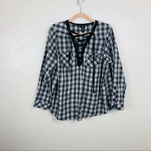torrid | Flannel Lace Up | Size L